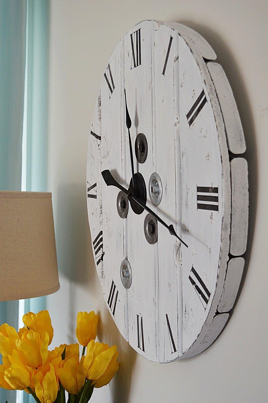 farmhouse clock by vanderveen house