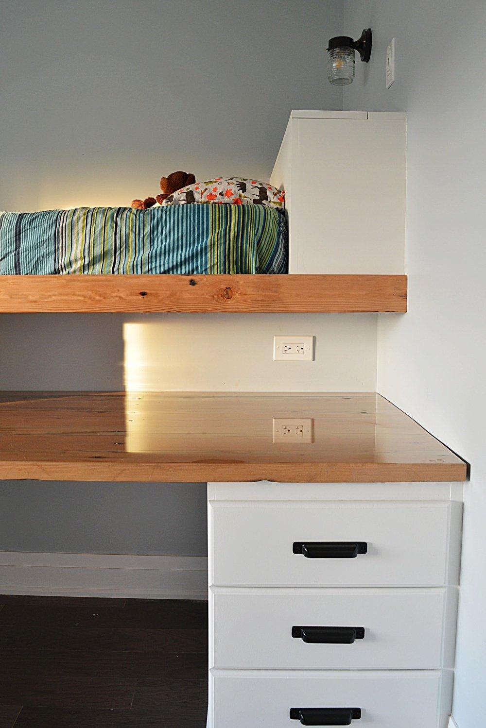 shared boys bedroom loft bed