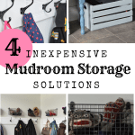 Four inexpensive mudroom storage solutions