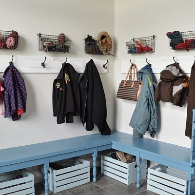 4 mudroom storage solutions: laundry room makeover on a budget