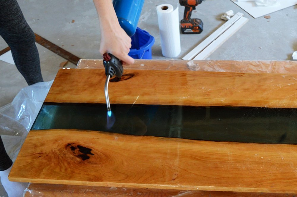 How Not To Make A Live Edge River Coffee Table The Vanderveen House