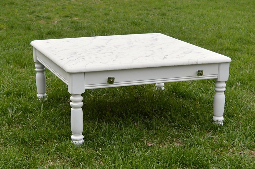How to make a faux marble top coffee table using epoxy resin