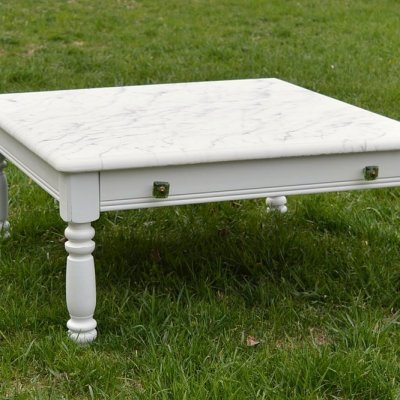 How to make a faux marble top coffee table