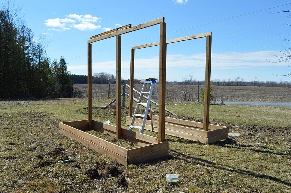 How to make a vertical vegetable arbor