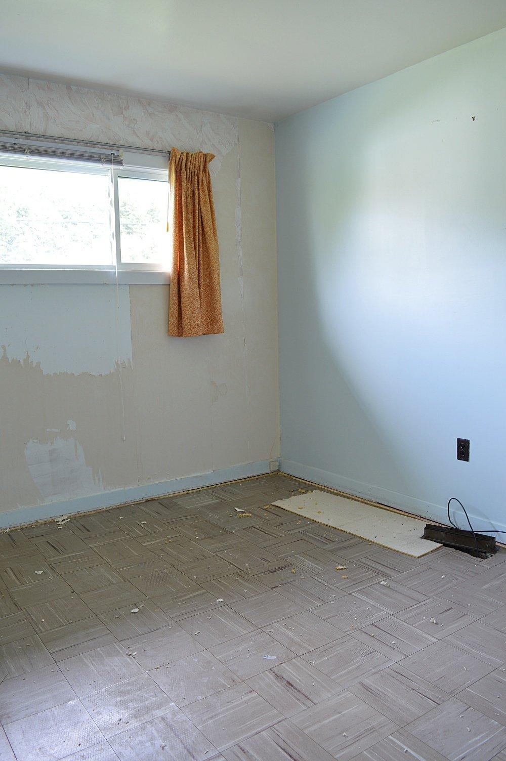 rental house renovation removing wallpaper