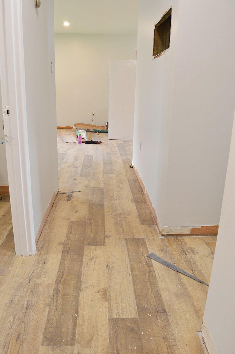 vinyl plank flooring hallway