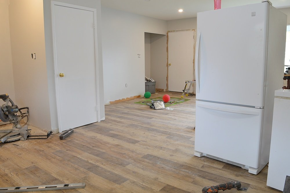 vinyl plank flooring open concept living