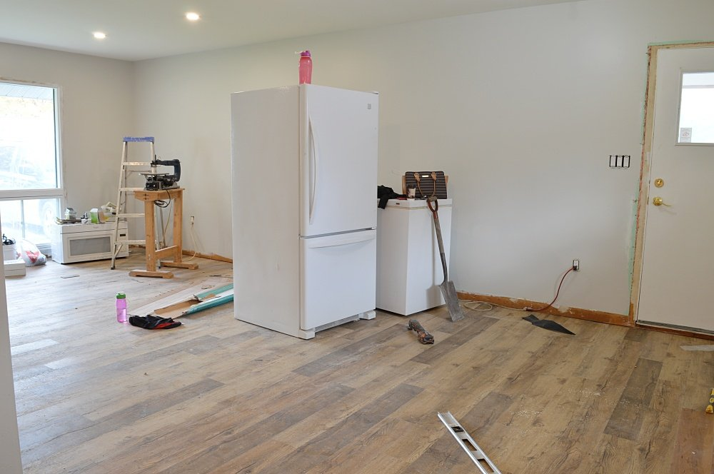 vinyl plank flooring rental property