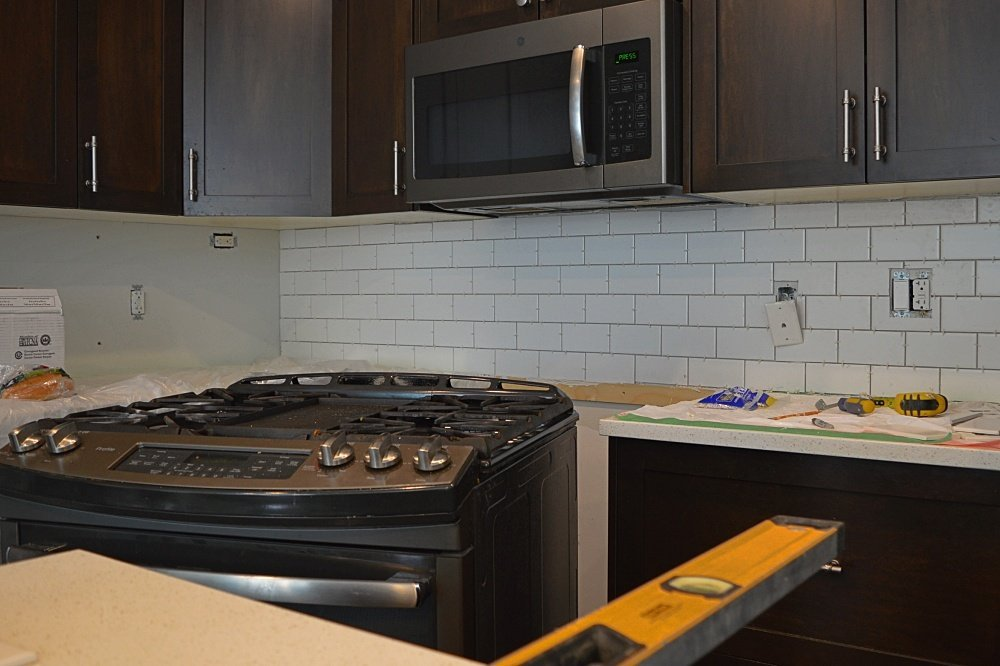 subway tile backsplash installation tutorial