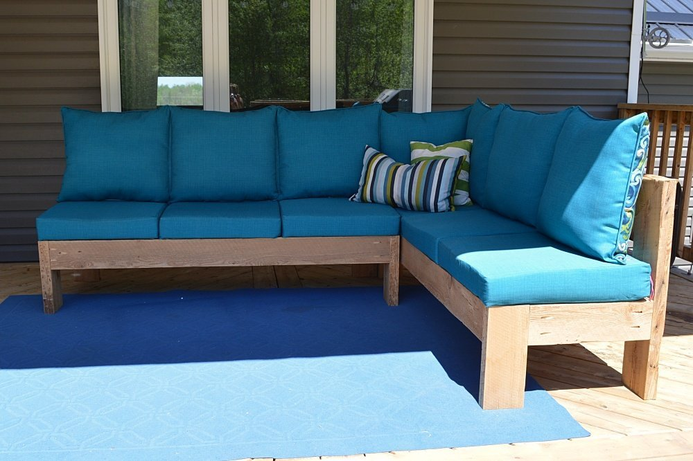 How to build an outdoor sectional