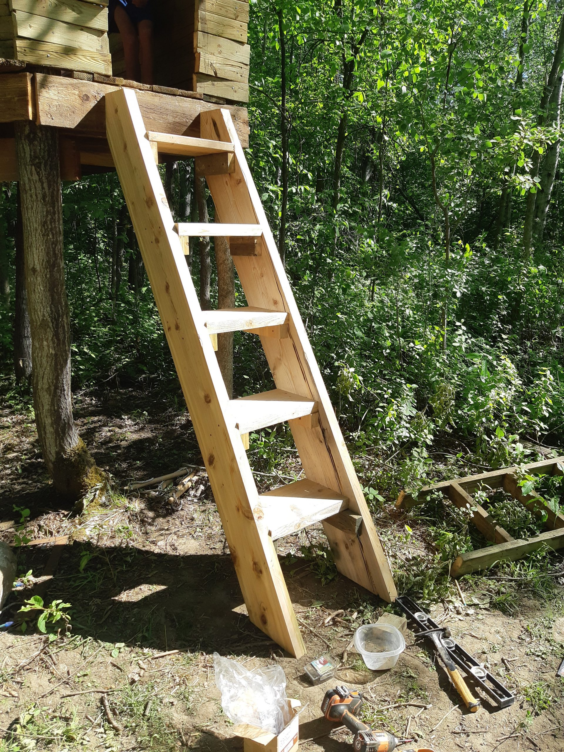 tree house stairs