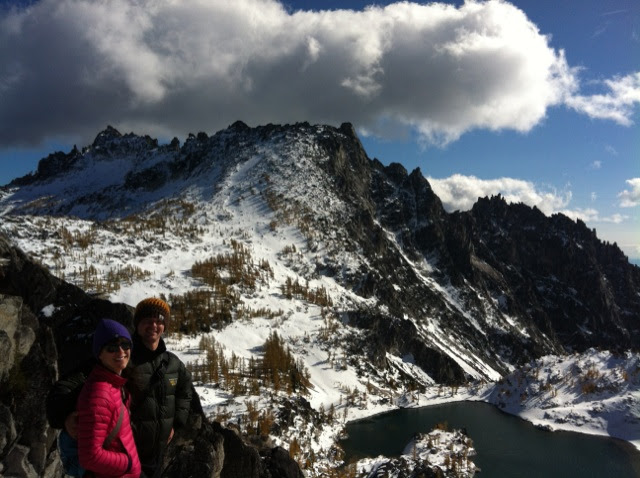 Snow backpacking in the Enchantments