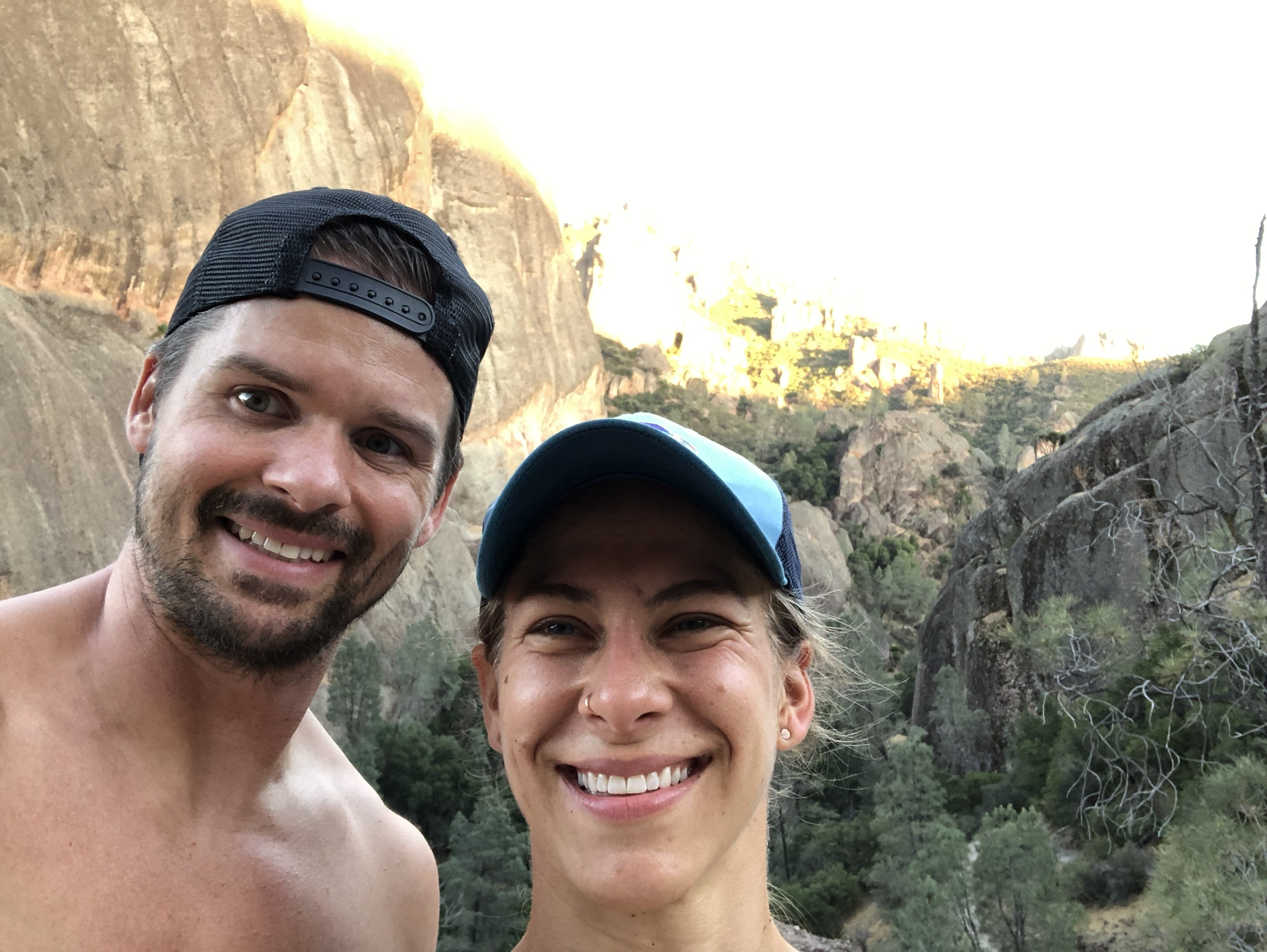 Emily Kramer and Joe Bauer in Pinnacles NP