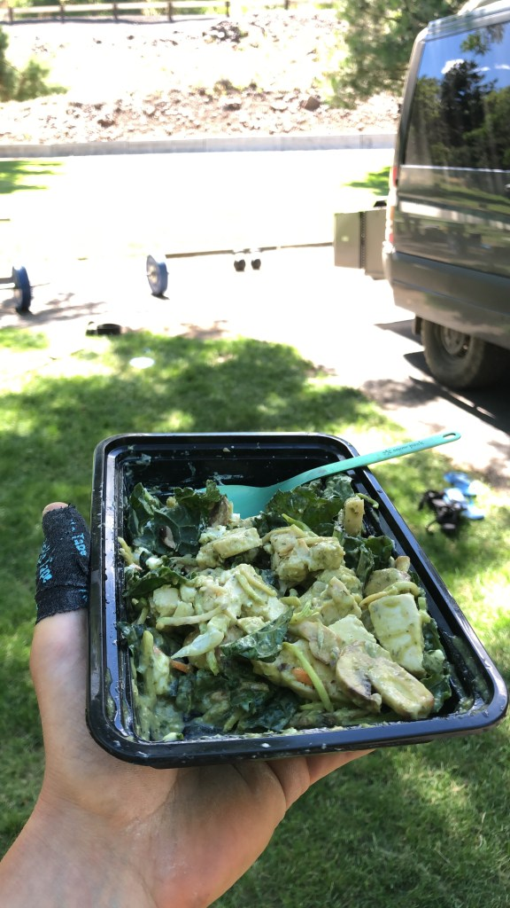 A delicious campground lunch at copperfield campground