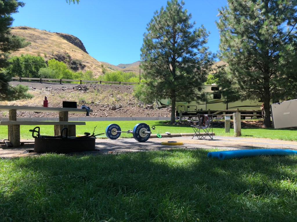Our setup at copperfield campground near Hells Canyon