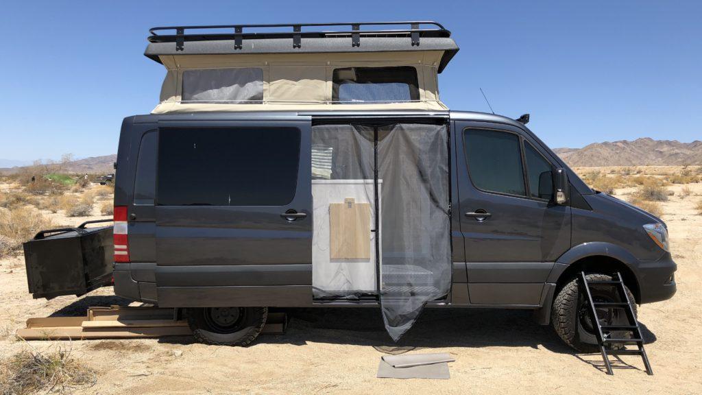The Vantastic Life Campsite at Joshua Tree National Park