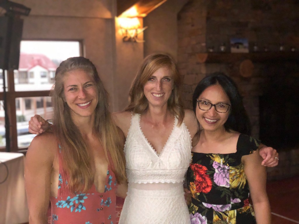 Emily, Katie, and Susana at Katie and JP's wedding