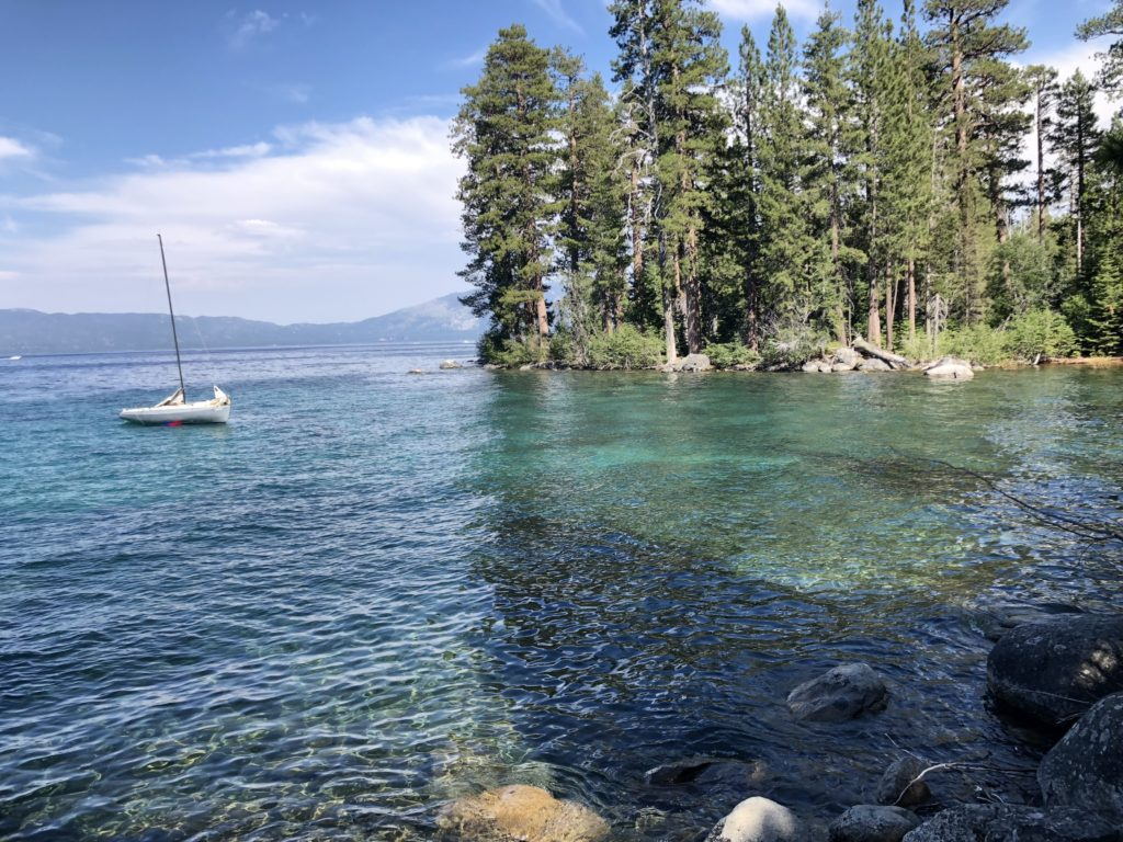 Lake Tahoe from Rubicon Trail from a trail run