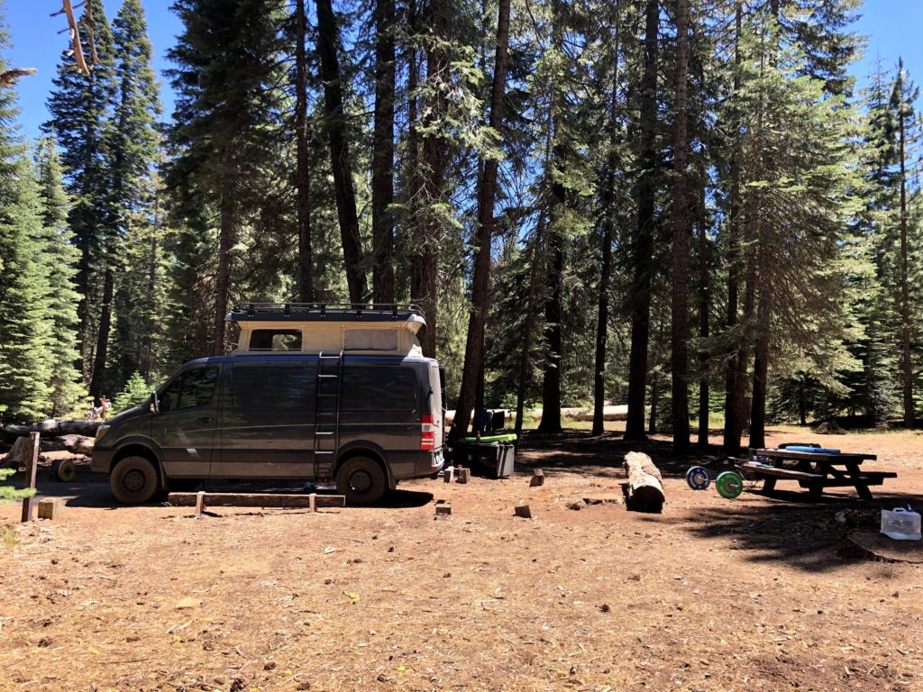 Lassen National Park - lake almanor campground with Joe and Emily