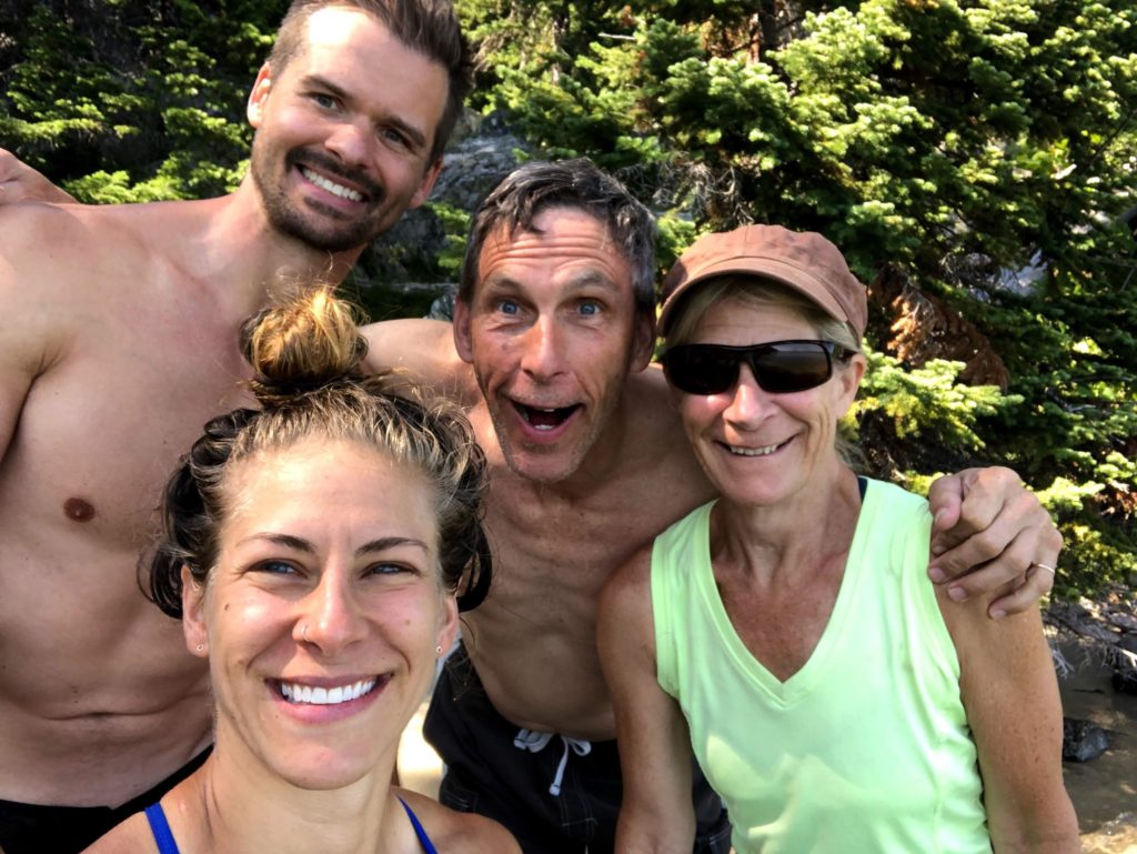 Joe, Emily, Chuck, and Sue living the Vantastic Life in Grand Tetons