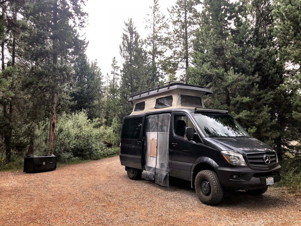 Sportsmobile at Baker's Hole Forest Service Campground