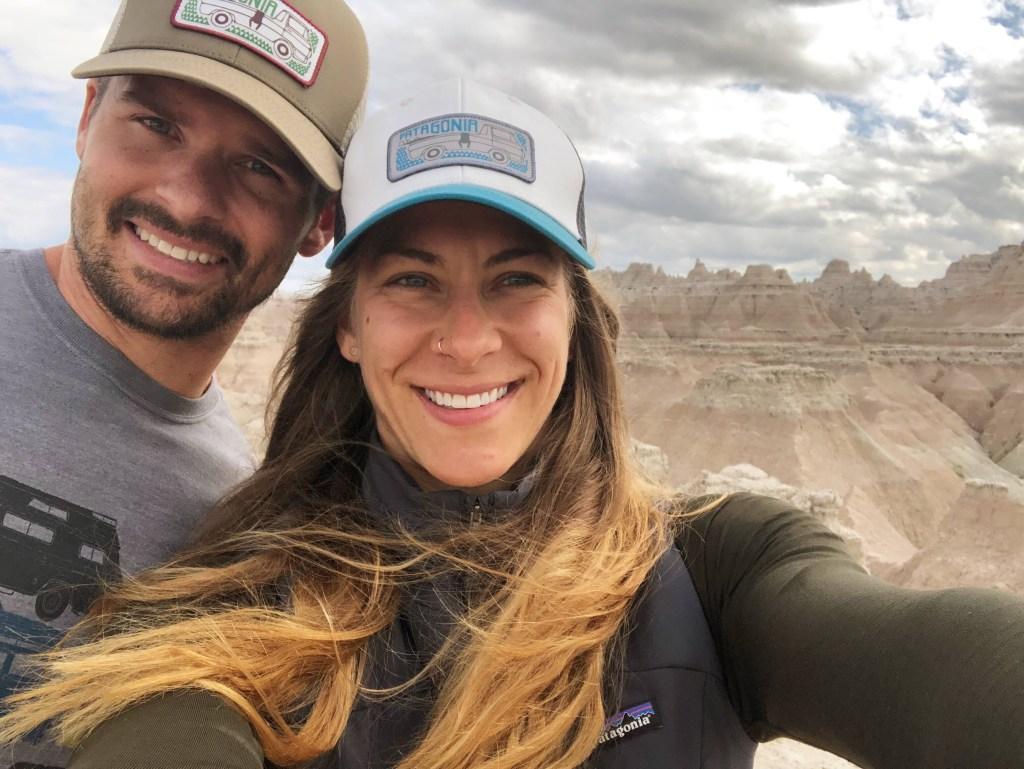 Joe & Emily Badlands National Park Hiking Views