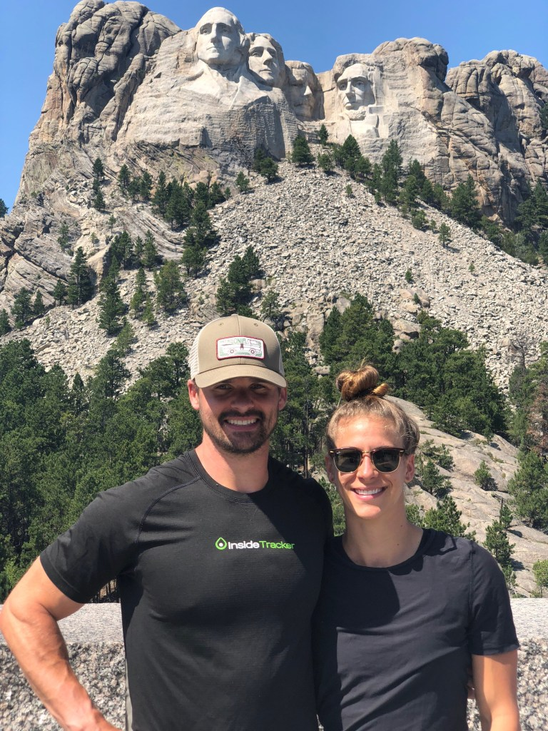 Joe & Emily at Mt. Rushmore, much cooler than expected