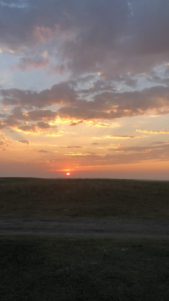 The Badlands Sunset from camp