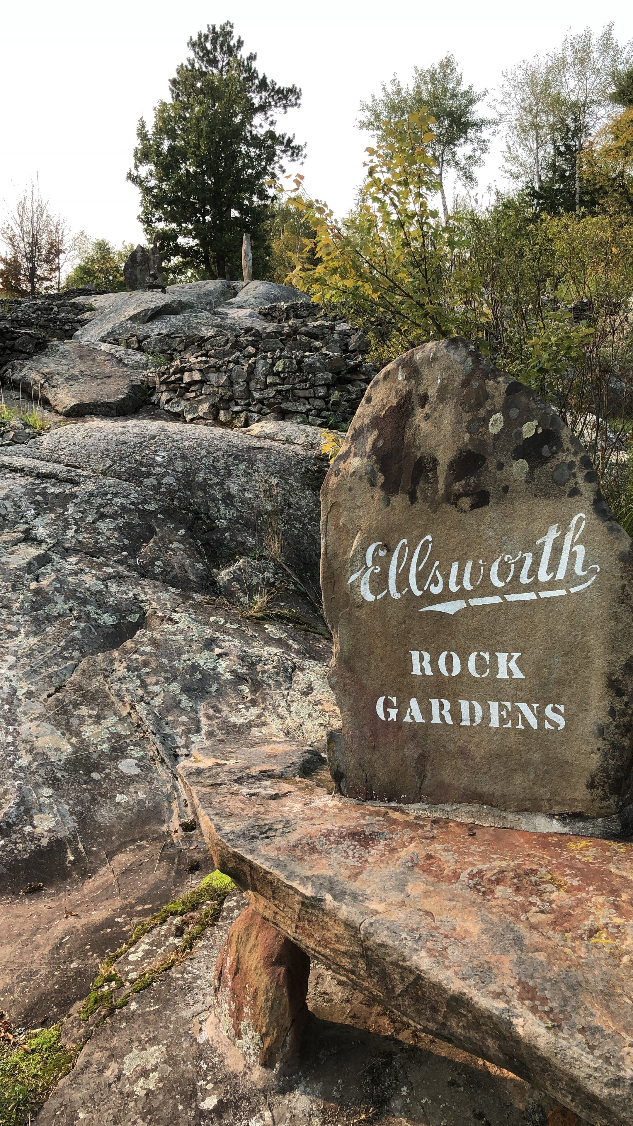 Ellsworth Rock Gardens Sign