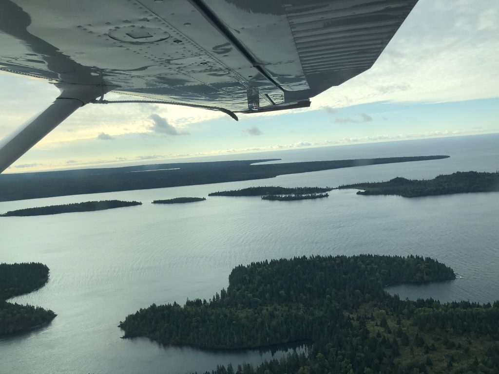 View from plane out to Isle Royale