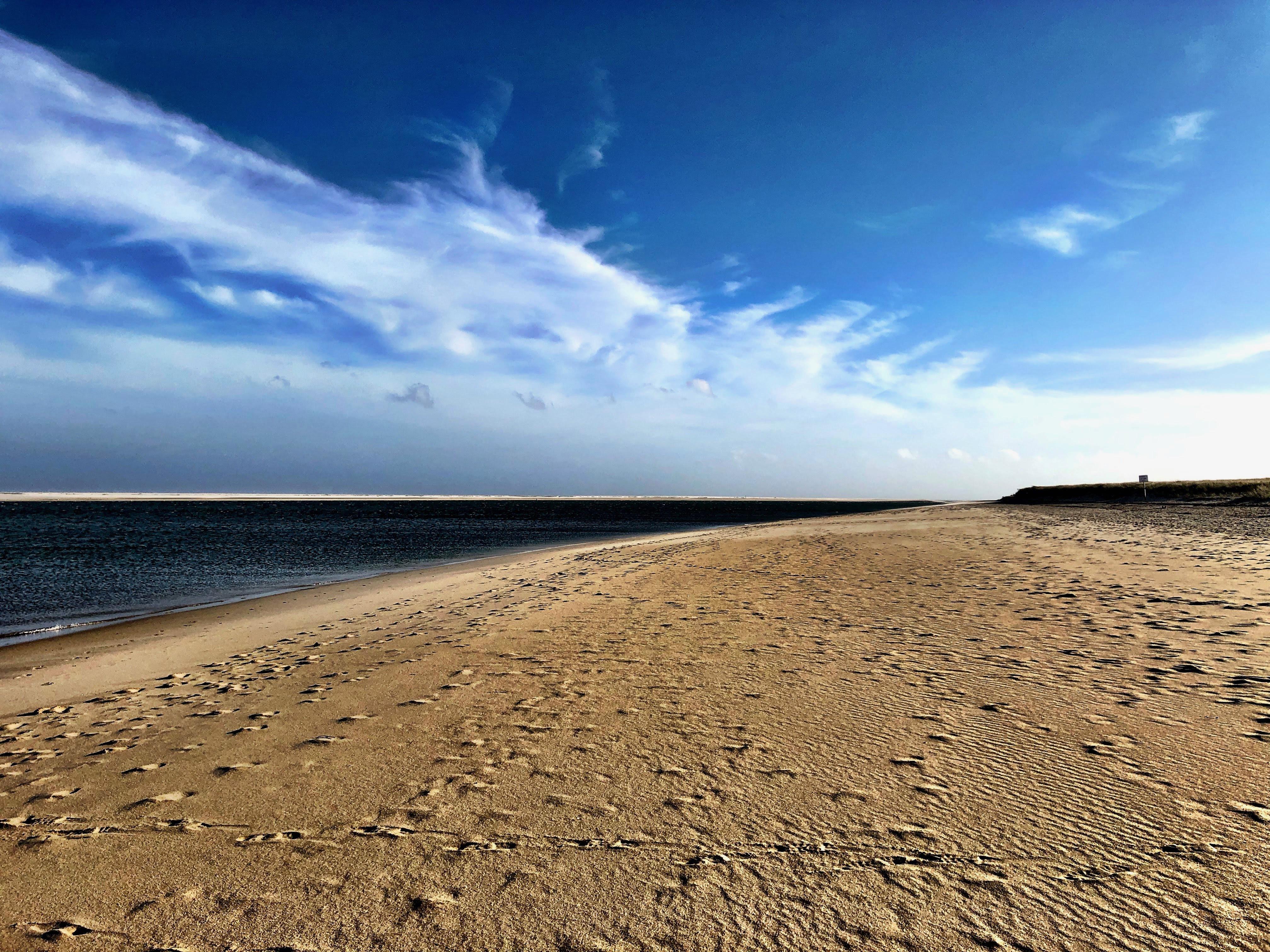 Walking along Cape Cod Beach