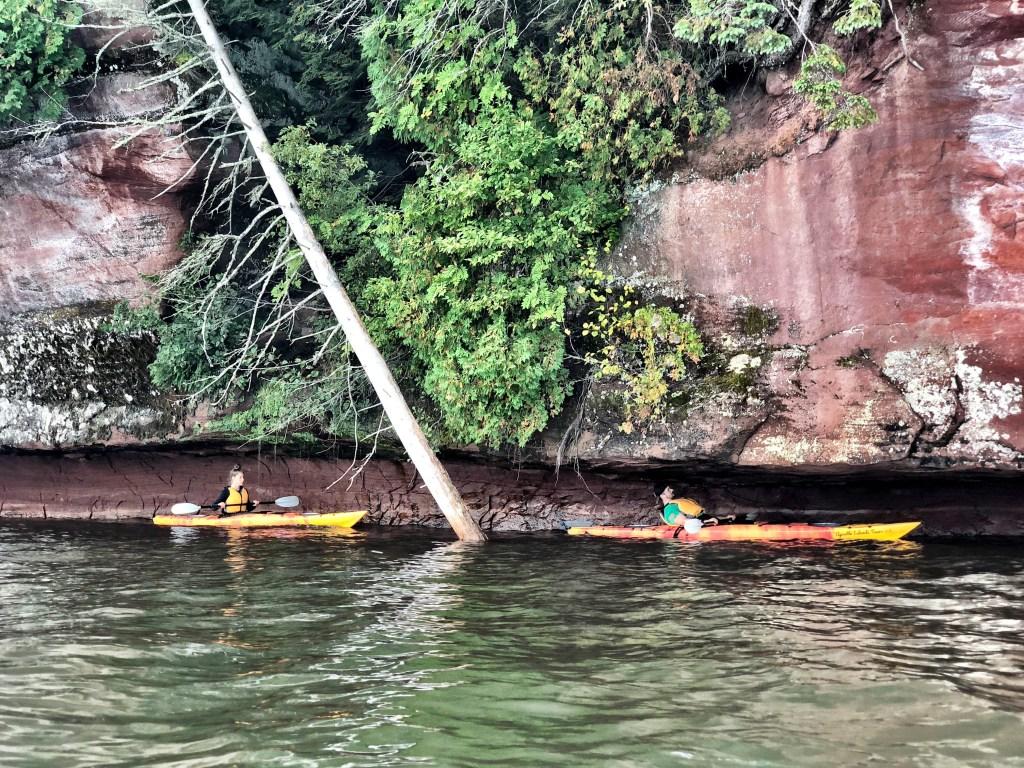 Emily and Joe Kayaking at red cliffs