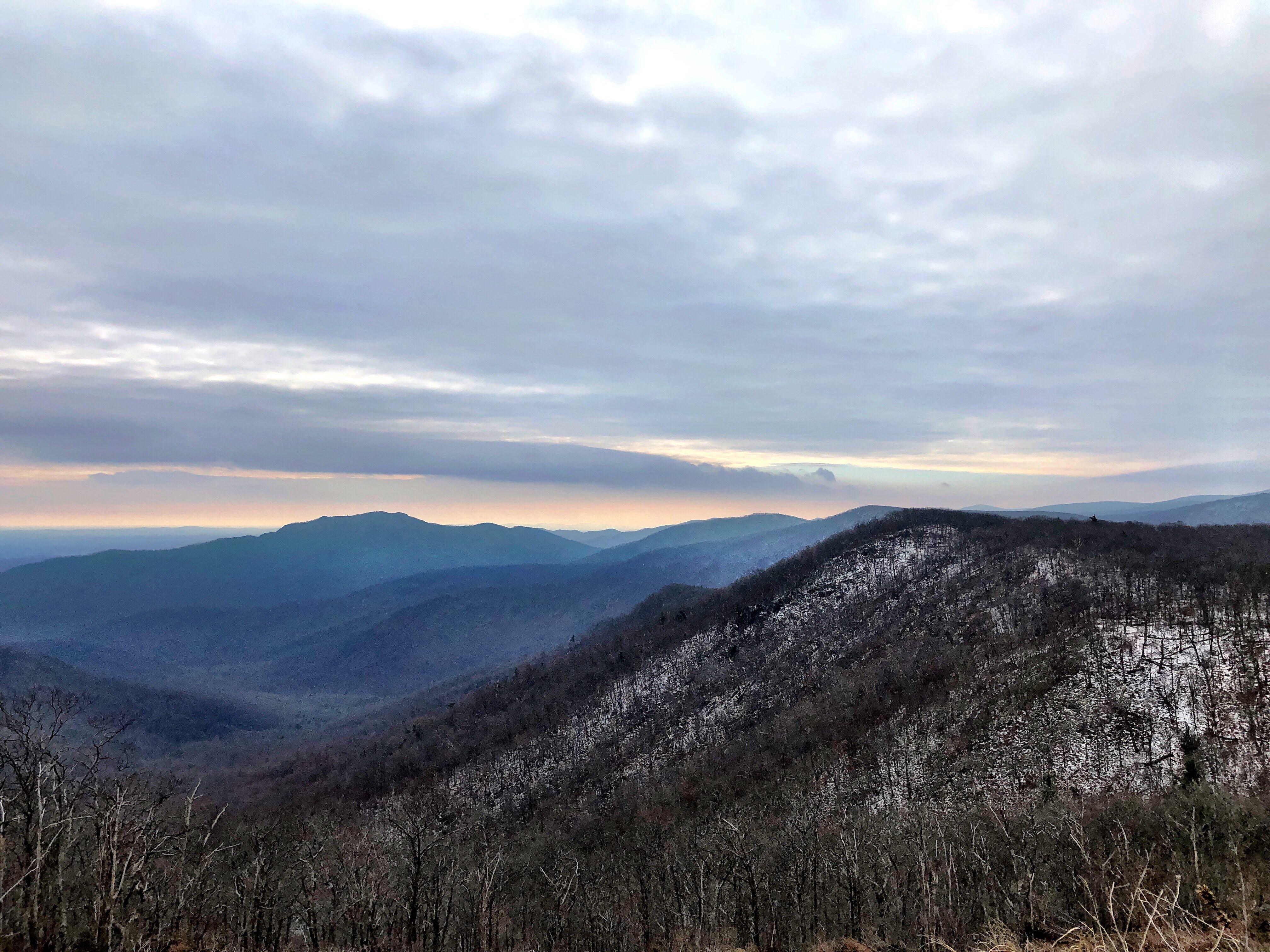 Mountain views in Shenandoah National Park