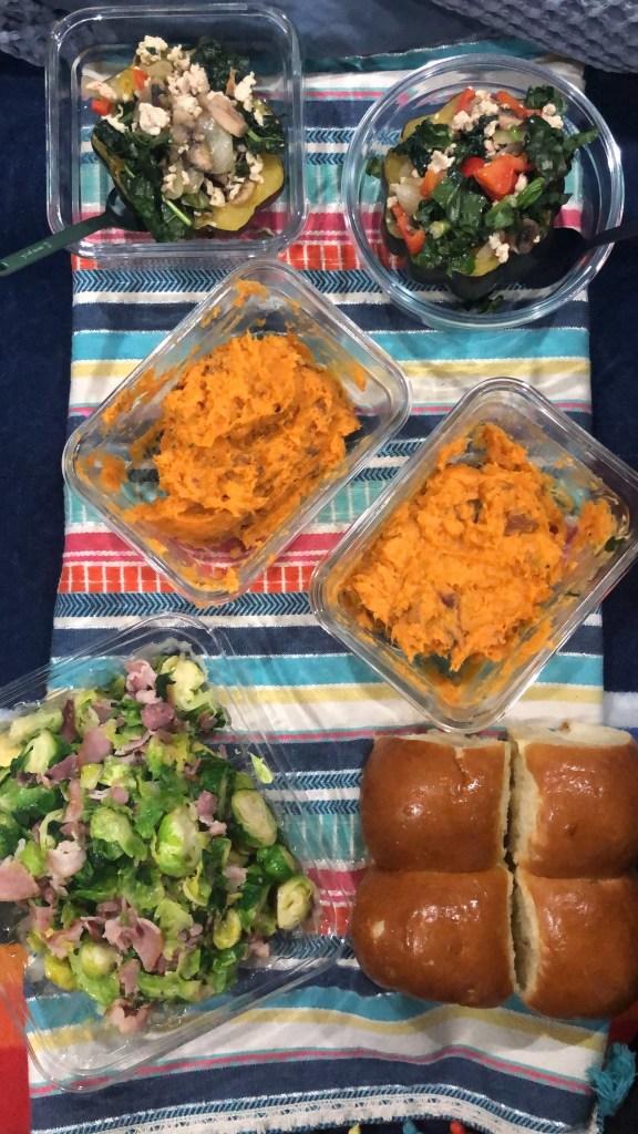Thanksgiving or Vansgiving food spread