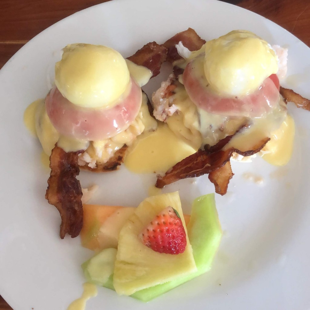 BLUE HEAVEN EGGS BENEDICT