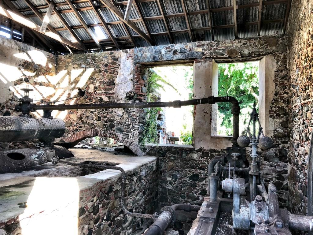 Old Sugar Plantation Ruins on US Virgin Islands National Park