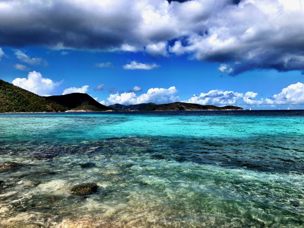 Amazing Blue Waters of Waterlemon Bay on St John of US Virgin Islands National Park
