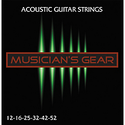 Musician's Gear Acoustic 12 80/20 Bronze Acoustic Guitar Strings Standard