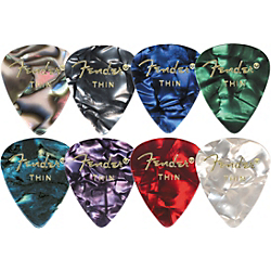 Fender 351 Premium Celluloid Guitar Picks (12-Pack) Ocean Turquoise Medium