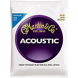 Martin M150 80/20 Bronze Medium Acoustic Guitar Strings Standard