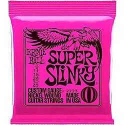 Ernie Ball 2223 Nickel Super Slinky Custom Gauge Electric Guitar Strings Standard