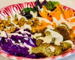 Vegan falafel Buddha bowl recipe
