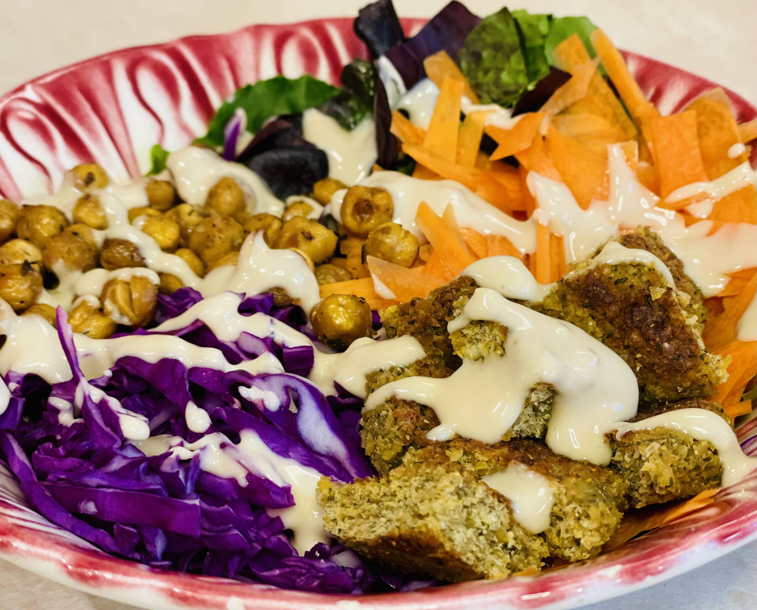 Falafel Buddha Bowl with Creamy Tahini Dressing
