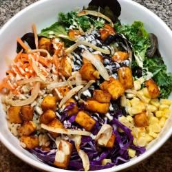 vegan bbq tofu buddha bowl