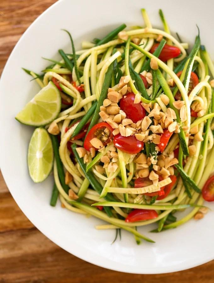 Thai-Style Zucchini Ribbon Salad