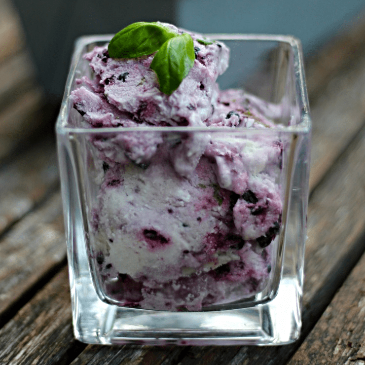 blackberry basil ice cream