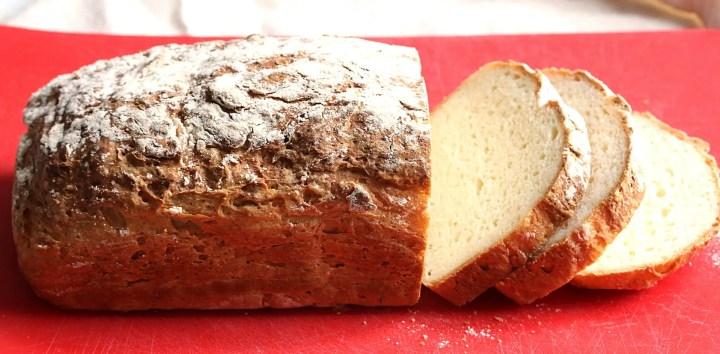 loaf of gluten-free vegan bread