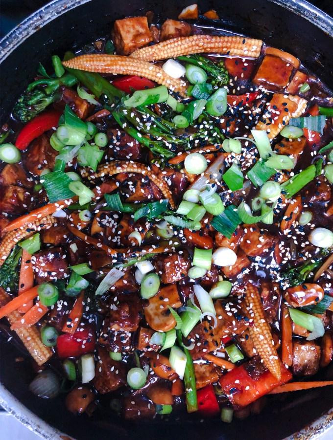 Szechuan Tofu and Vegetables