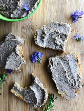 Lentil and Mushroom Pate (vegan faux gras)