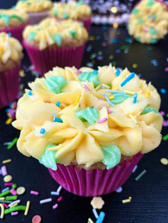 The Fluffiest Gluten Free Lemon Cupcakes